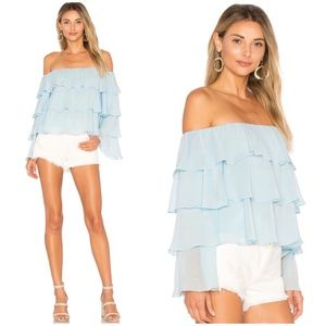 LOVERS + FRIENDS RUFFLE TOP REFORMATION REVOLVE